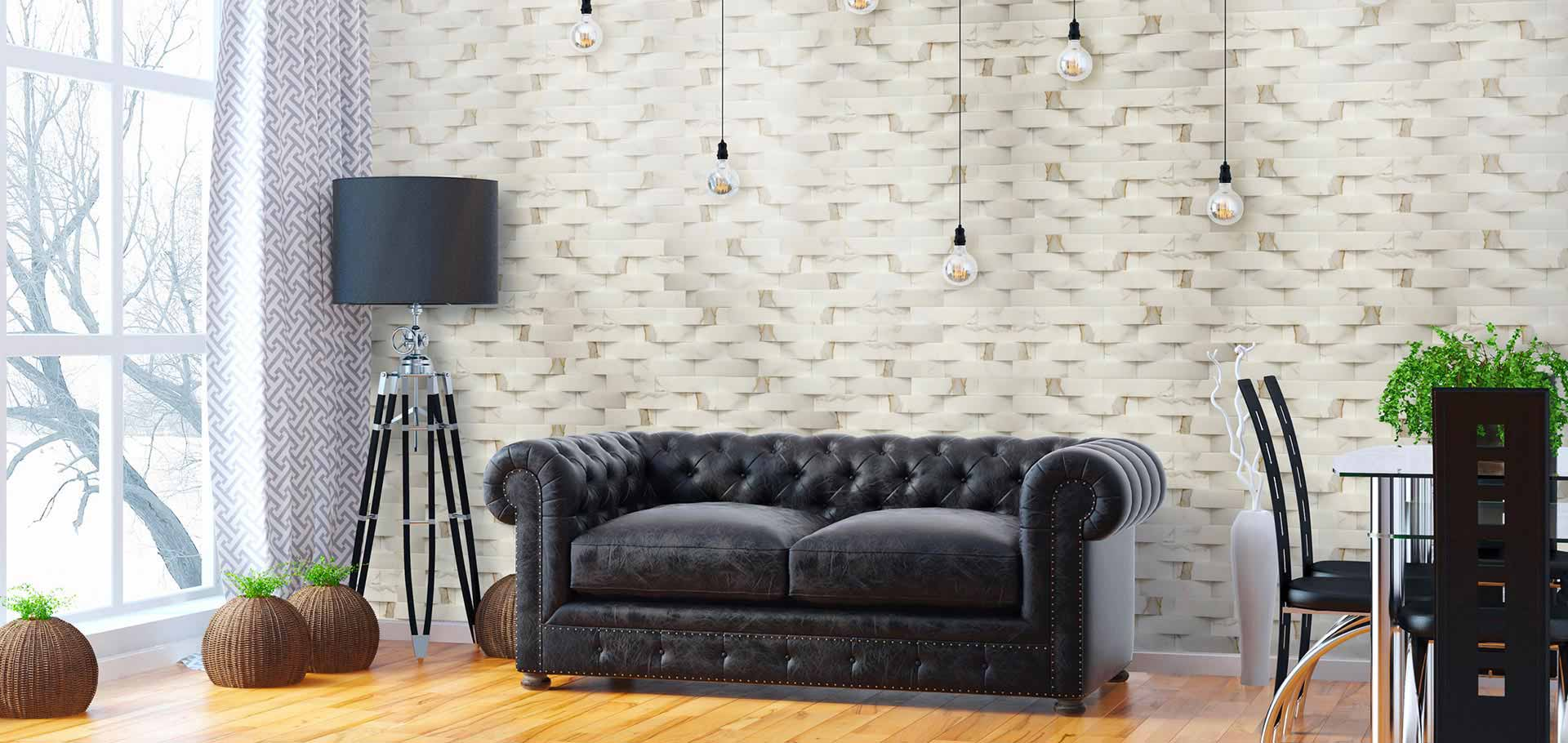 Rivestimenti pareti in marmo pietra e travertino rielli for Pareti interne in pietra ricostruita