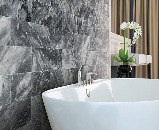 Rivestimenti interni in marmo pietra e travertino rielli - Rivestimenti bagno in pietra naturale ...